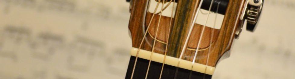 Kopf einer Gitarre